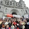 Tar Sands Pipeline Protestors Swarm British Columbia Legislature