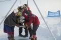 Greenpeacers Lower Flag, Time Capsule Beneath North Pole