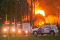 Driverless Crude Oil Train Explodes in Quebec Town