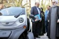 Iran's President Test Drives Iran's First Electric Car