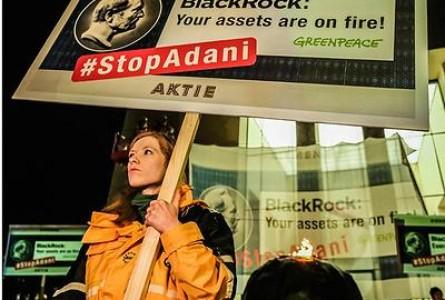 Green v Black: Greenpeace Protests BlackRock's Coal Funding