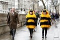 Giant Bees Buzz British Prime Minister's Office