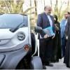 Iran's President Test Drives Iran's First Electric Car