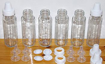 Glass baby bottles contain no bisphenol A. (Photo by Moshe Reuveni) f26e361a18c6