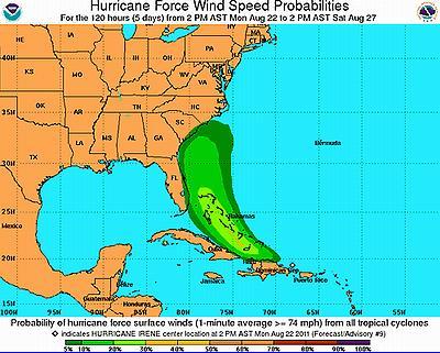 Hurricane Irene Blasts Puerto Rico Heads For US Mainland ENS - Puerto rico and us map