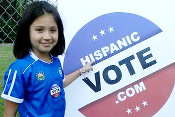 Hispanic Vote sign
