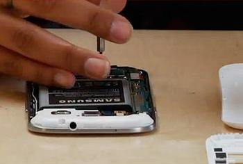 dismantling cell phone