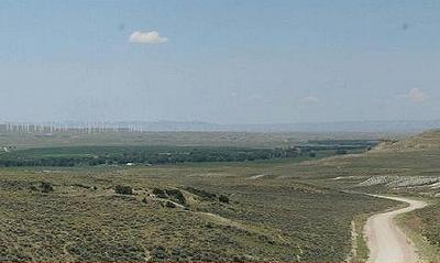 Wyoming wind farm site
