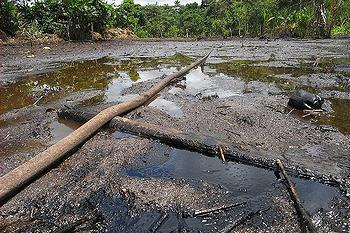 Ecuador oil waste
