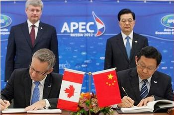 Canadian & Chinese officials