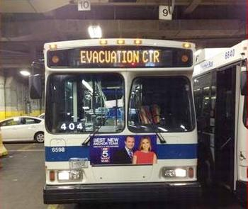 evacuation bus