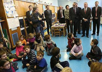 Mayor Bloomberg school