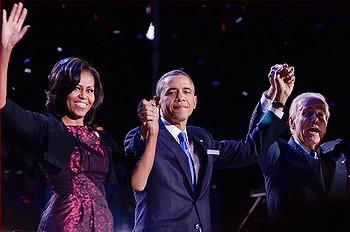 President Barack Obama, First Lady Michelle Obama, Vice President Joe Biden