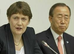 Clark, Ban Ki-moon