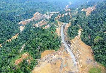 Murum dam construction