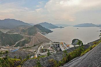 Bakun dam Sarawak Malaysia