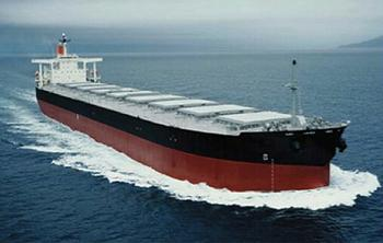 Bulk coal carrier of the type that would travel to and from the Gateway Pacific Terminal at Cherry Point