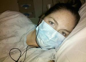 Patient at the University of North Carolina Hospital, Chapel Hill (Photo courtesy CDC)