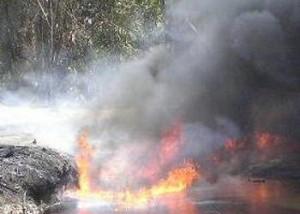 oil fire, Nigeria