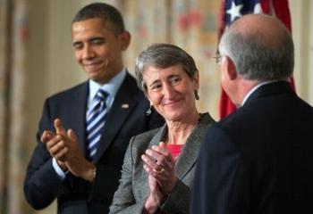 Obama, Jewell, Salazar