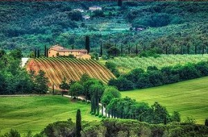 A farm in Tuscany (Photo by Sebastian Buel)
