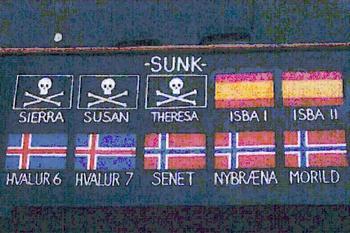 sunk ship symbols