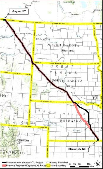 Keystone XL map