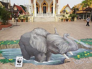 chalk elephant