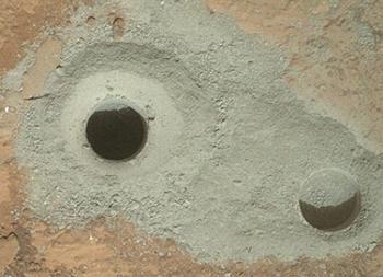 drill hole Mars