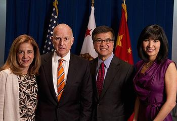 California First Lady Anne Gust Brown, Governor Edmund G. Brown Jr., U.S. Ambassador to China Gary Locke and Mona Lee Locke (Photo courtesy Office of the Governor)