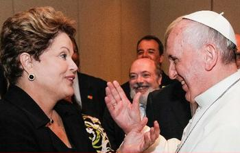 Rousseff, Pope Francis
