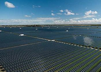 Artist's image of the finished solar farma at Broken Hill NSW, Australia (Image courtest First Solar)