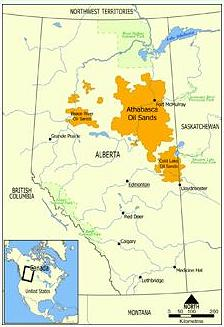oil sands map