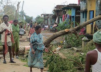 Ganjam cyclone damage
