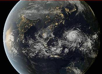 typhoon from space