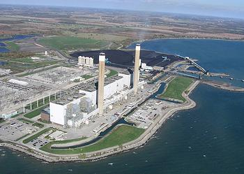 Ontario Power's Nanticoke Generating Station (Photo courtesy OPG)