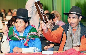 Bolivian delegates