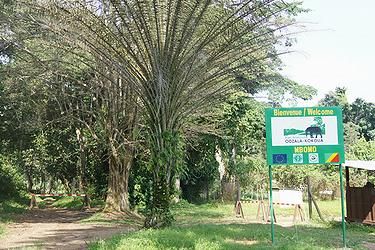 A new sign marks the entrance to Odzala-Kokoua National Park (Photo courtesy African Parks)
