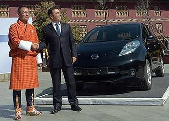 Bhutan Forges Electric Car Strategy With Nissan's Help
