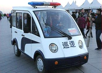 Electric police car in Beijing, October 2013 (Photo credit unknown)
