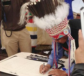 Chief signs
