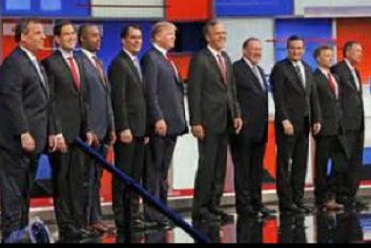 Republican presidential candidates, August 6, 2015, Cleveland, Ohio (Photo credit unknown)