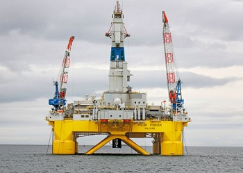 Shell's drilling platform Pacific Pioneer in the Chukchi Sea (Photo courtesy Shell Oil)