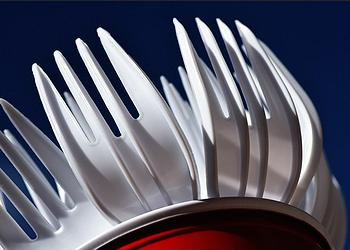 Plastic forks in a plastic cup (Photo by theilr) & France Bans Plastic Plates Cups Cutlery | ENS
