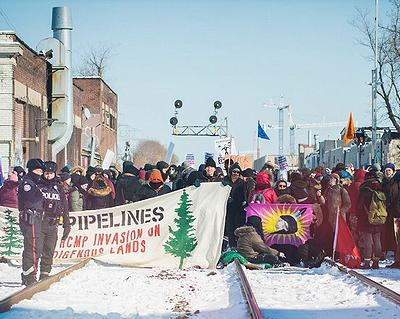 Leftist Pipeline Protests Shuts Down Canadian Rail Networks